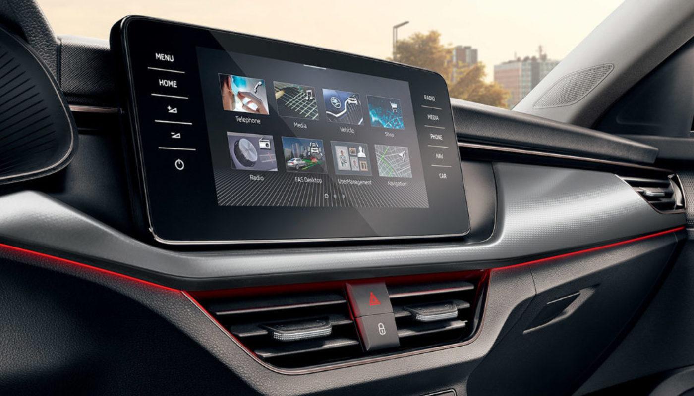 Nowa Škoda - systemy telematyczne
