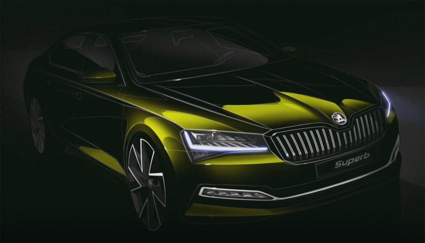 Nowa Škoda Superb - wizualizacja