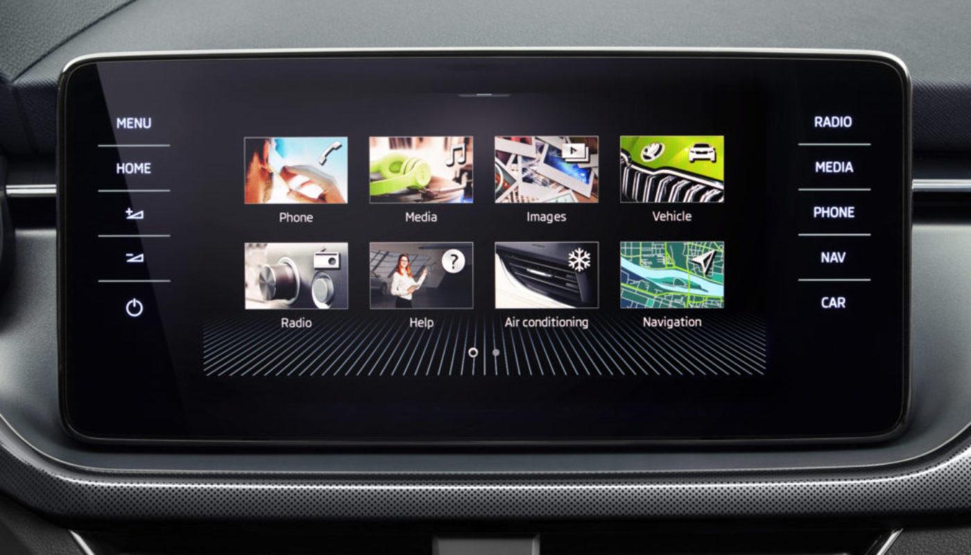 ŠKODA KAMIQ oferuje najnowsze technologie multimedialne w segmencie SUV