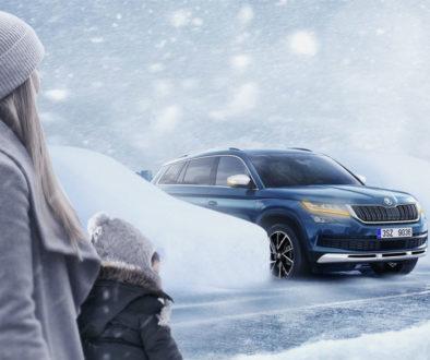 Škoda Bezpieczeństwo podczas zimowej jazdy